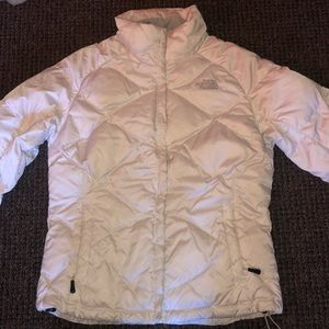 White 550 North Face - Women's Down Jacket